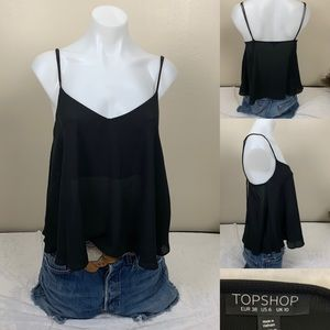Topshop Top Sheer Camisole Babydoll Style